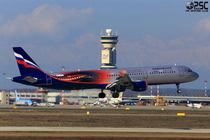 VP-BTL A321-211 5881 Aeroflot @ Milano Malpensa Airport 24.02.2014 © Piti Spotter Club Verona
