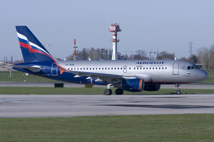 VP-BUN A319-111 3298 Aeroflot @ Bologna Airport 03.12.2012 © Piti Spotter Club Verona