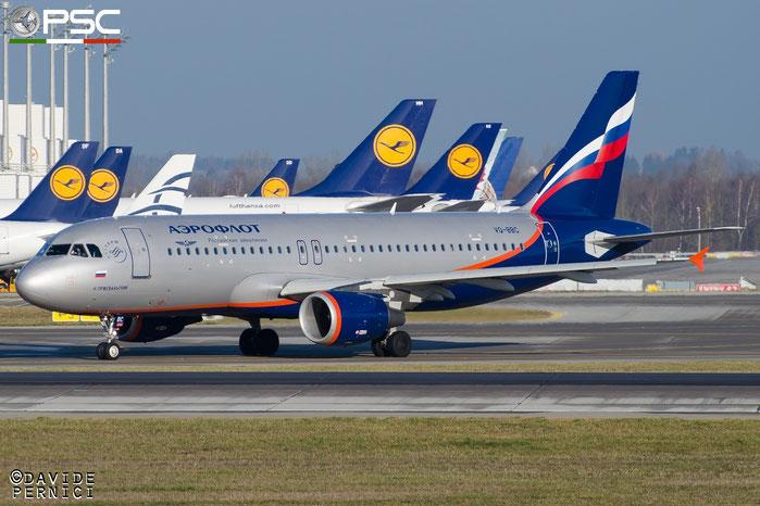 VQ-BBC A320-214 3835 Aeroflot @ Munich Airport 13.12.2015 © Piti Spotter Club Verona