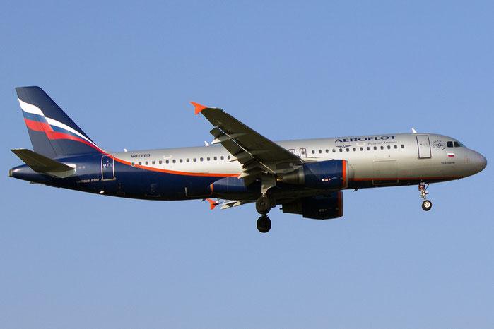 VQ-BBB A320-214 3823 Aeroflot @ Bologna Airport 14.03.2014 © Piti Spotter Club Verona