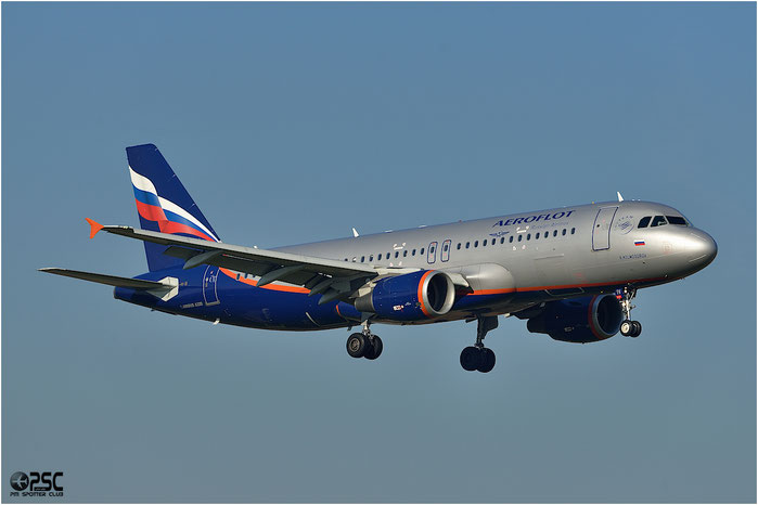 VQ-BIV A320-214 4649 Aeroflot @ Bologna Airport 06.12.2013  © Piti Spotter Club Verona