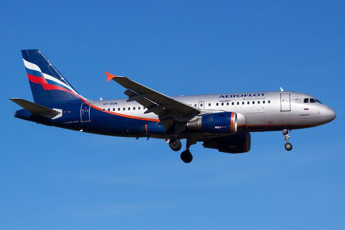 VP-BDM A319-111 2069 Aeroflot @ Bologna Airport 05.02.2013 © Piti Spotter Club Verona