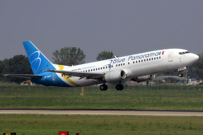 UR-GAP B737-4Z9 27094/2432 Blue Panorama Airlines @ Bologna Airport 03.09.2014  © Piti Spotter Club Verona