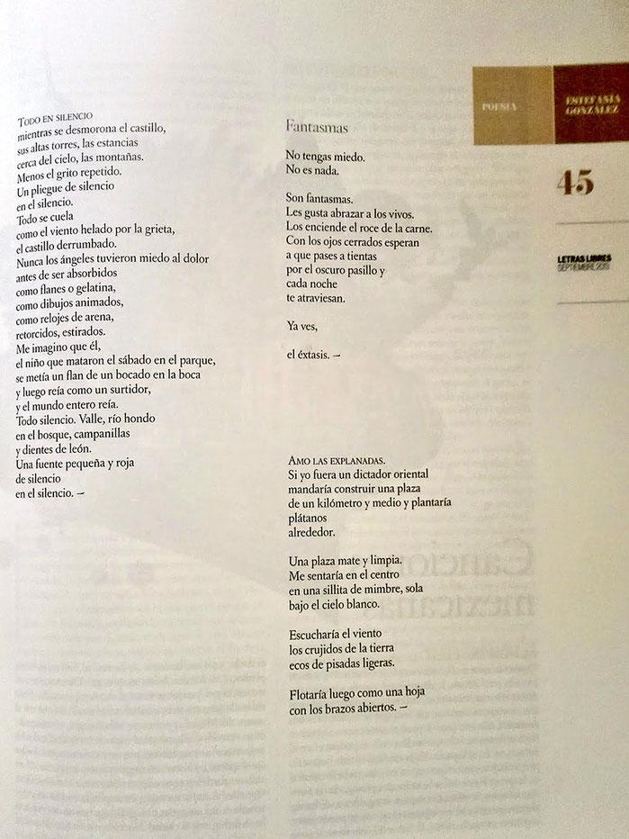 Estefanía González - Hierba de noche. En revista Letras Libres.