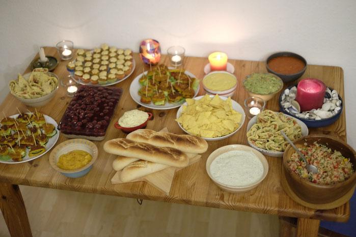 Veganes Geburtstagsbuffet