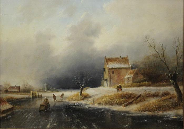 te_koop_aangeboden_een_schilderij_van_de_nederlandse_kunstschilder_jan_evert_morel_II_1835-1905