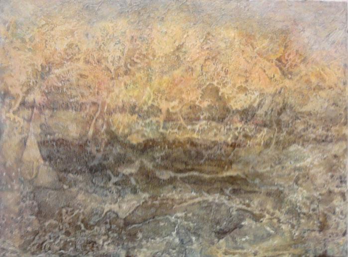 paysage enflamé