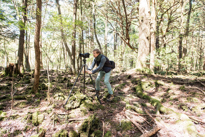 Making Off Foto Fotokünstler André Wagner in Aokigahara, Japan