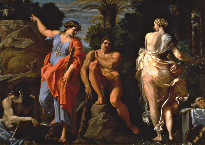 """Annibale Carracci, """"Ercole al bivio"""" (1596)"""