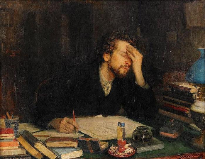 Dipinto di Leonid Osipovich Pasternak (1862-1945)