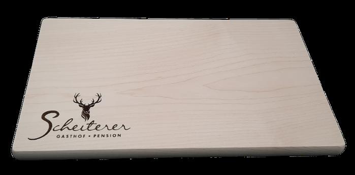 Jausenbrett mit Gravur nach Wunsch, ideales Werbegeschenk aus Holz