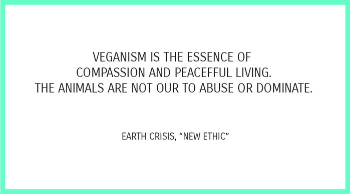 """Zitat aus Song """"New Ethic"""" von Earth Crisis"""