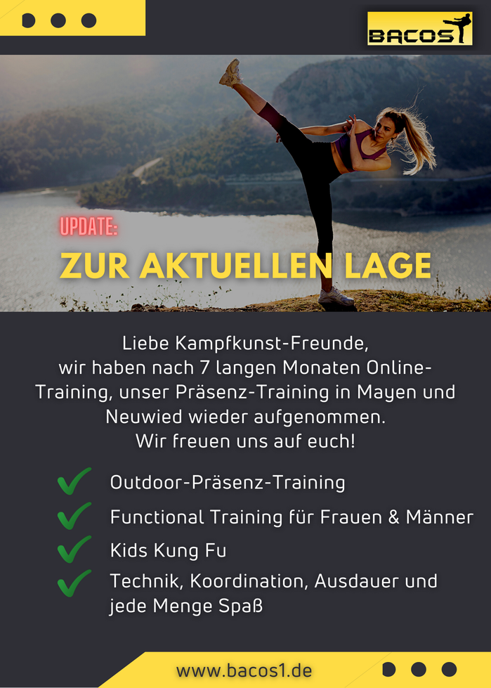 Start des Kampfsport-Präsenz-Trainings in Mayen & Neuwied