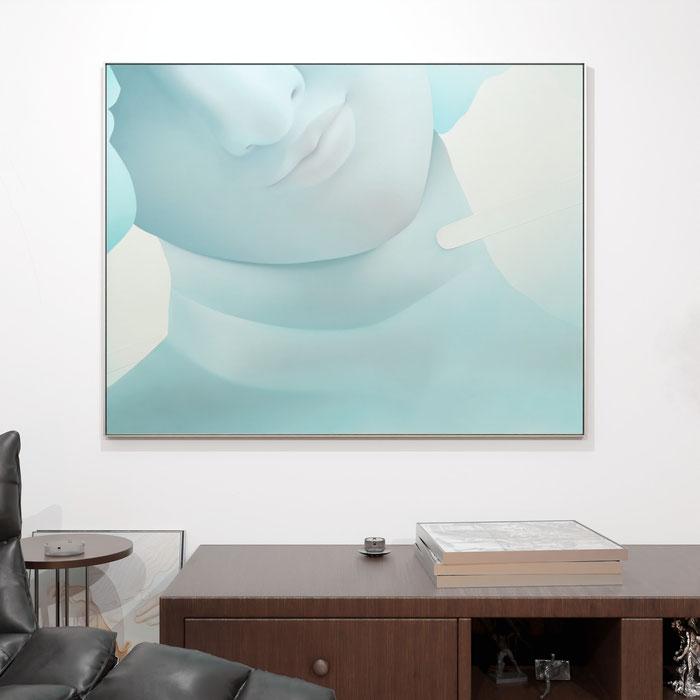 "(Vivian Greven - Ham II, 2020, oil and acrylic on canvas, 155x200cm, 61""x78"")"