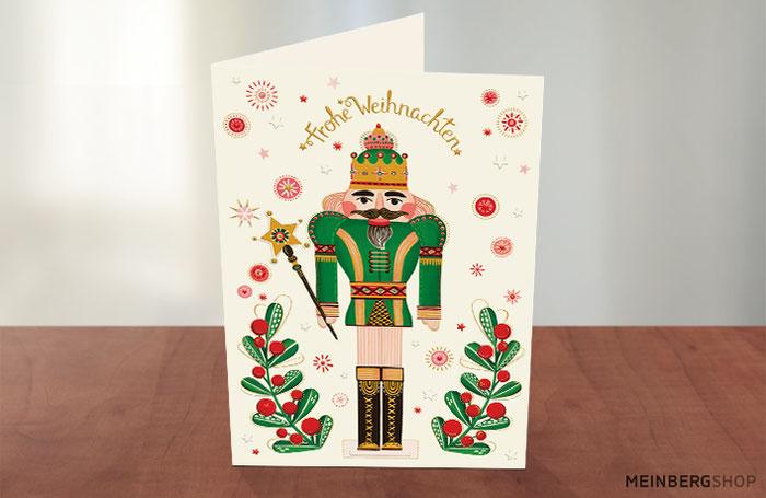 Nussknacker grün Turnowsky Weihnachtskarte