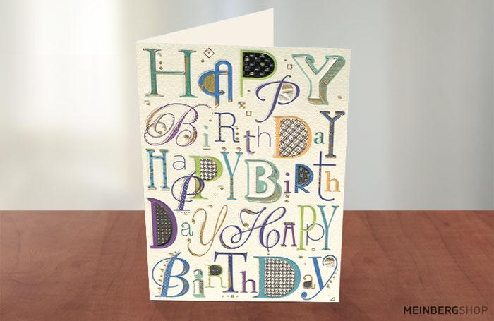 Happy Birthday Schrift Geburtstag Karte