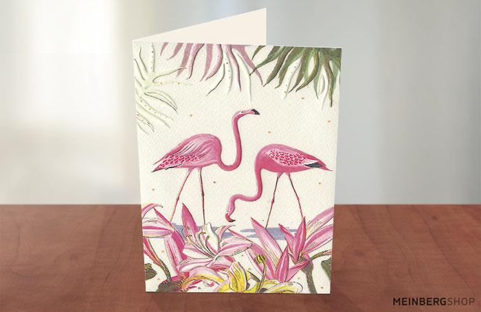 Flamingos Grußkarte Turnowsky