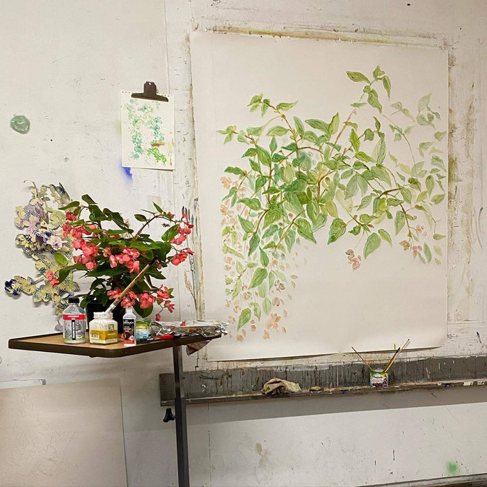 #workinprogress Caroline's atelier