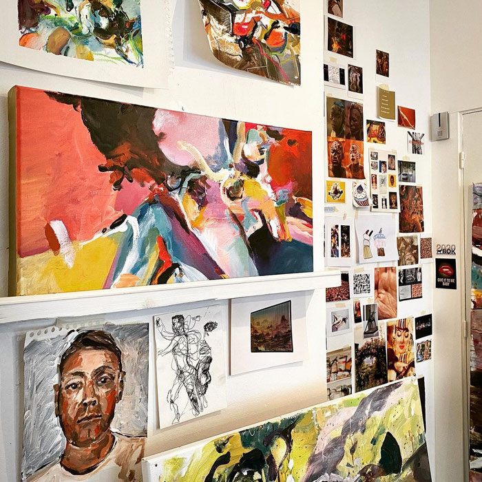 Atelier, wall of inspiration