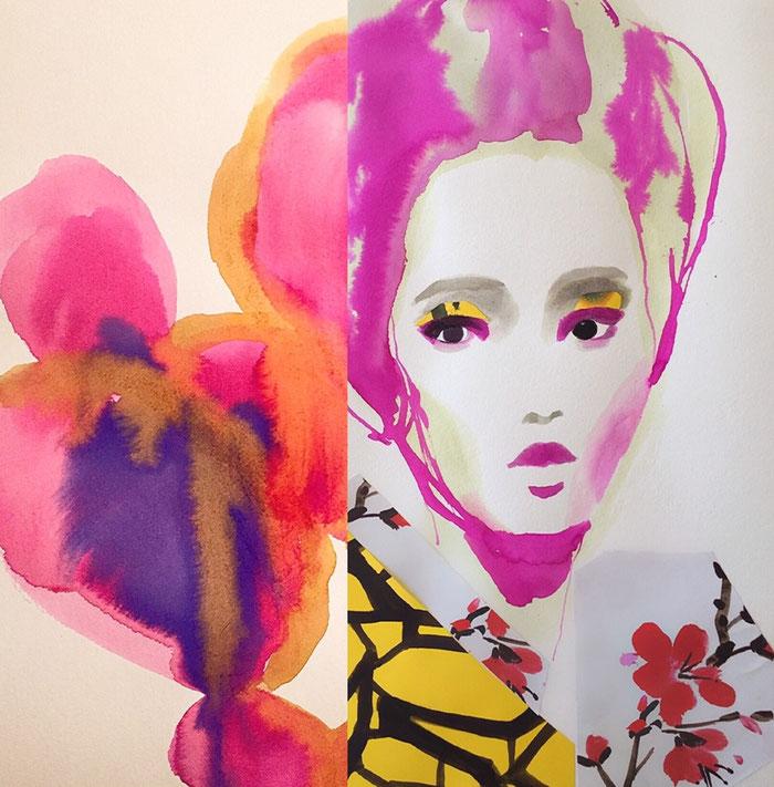 Flora Geisha - Pink violet