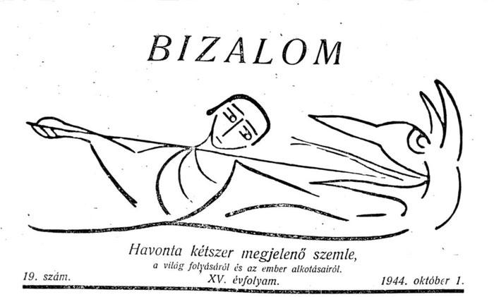 a BIZALOM c. újság előlapja