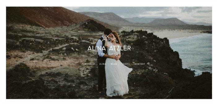 Fotografe Alina Atzler zet de foto's op haar site in het middelpunt | Jimdo