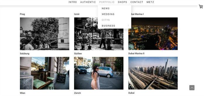 Albums maken het portfolio op je fotosite overzichtelijk | Jimdo