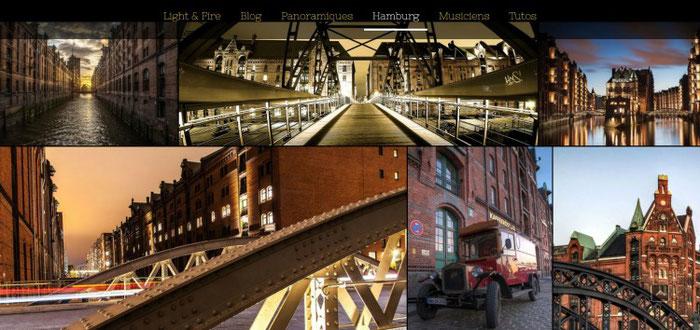 Meduana heeft  op zijn fotosite gekozen voor een donker design dat past bij de stijl van zijn foto's | Jimdo