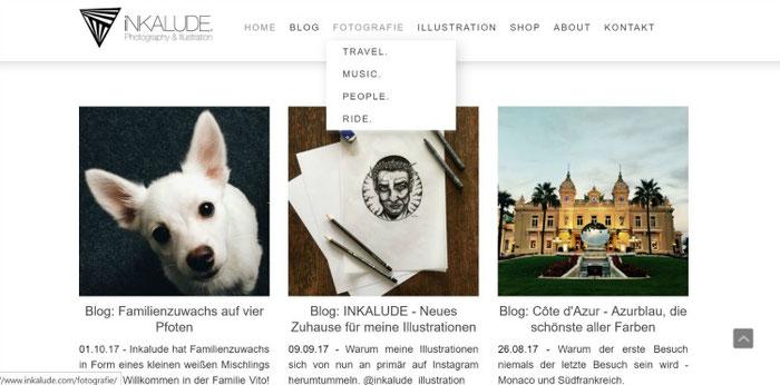 Een eenvoudig en overzichtelijk portfolio is een plus voor je fotografiesite | Jimdo