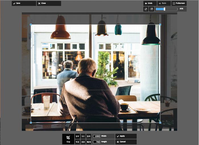 Foto bijsnijden met Pixlr