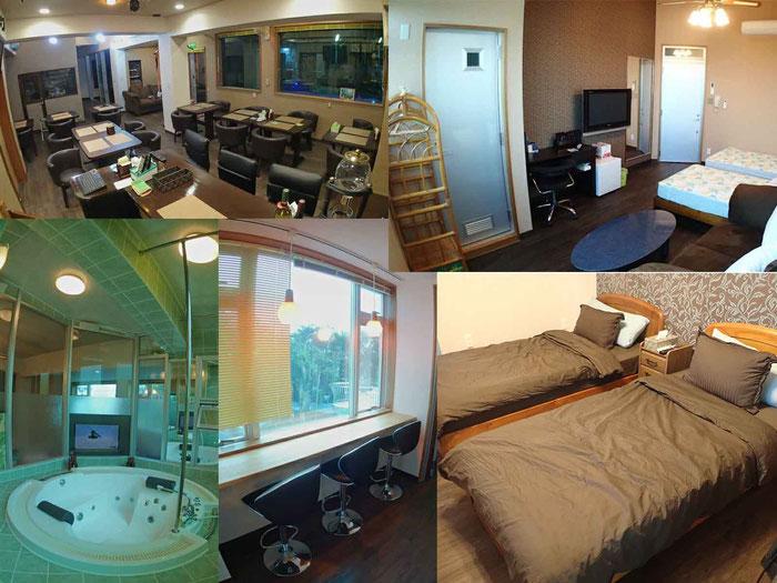 大人数でも休憩できる部屋や休憩スペース