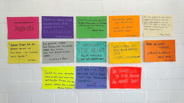 Einige der Lieblingszitate unserer Kolleginnen und Kollegen.