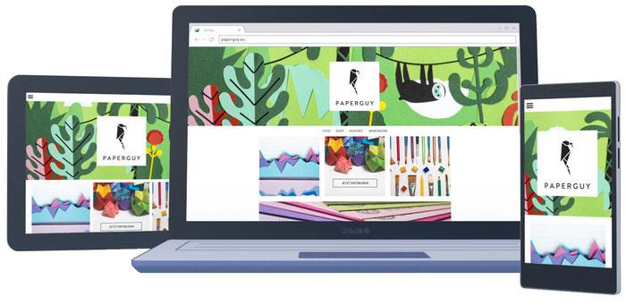 Das Design eurer Webseite passt sich automatisch an das benutzte Gerät an – und sieht super aus!