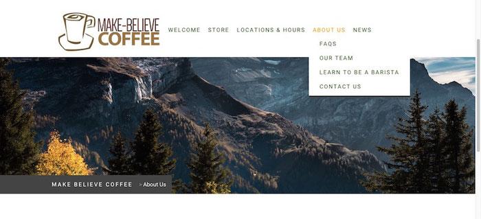 Besser ist es, das Menü übersichtlich zu gliedern, sodass der Besucher leicht über eure Webseite navigieren kann.