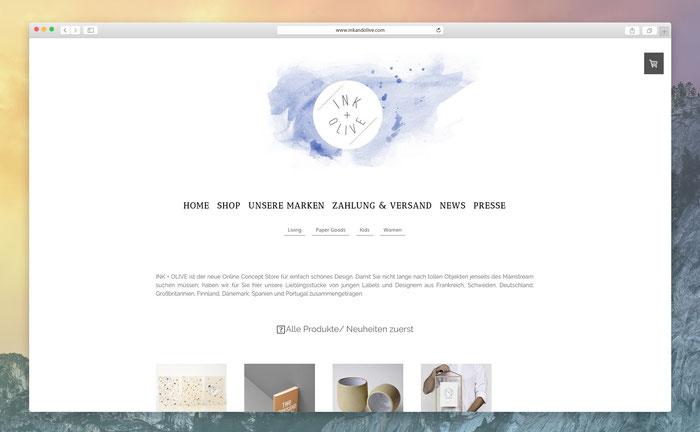 """Alexandra nutzt das Jimdo-Design """"Zurich"""", um ihre Webseite in einem schlichten und reduzierten Design zu präsentieren."""