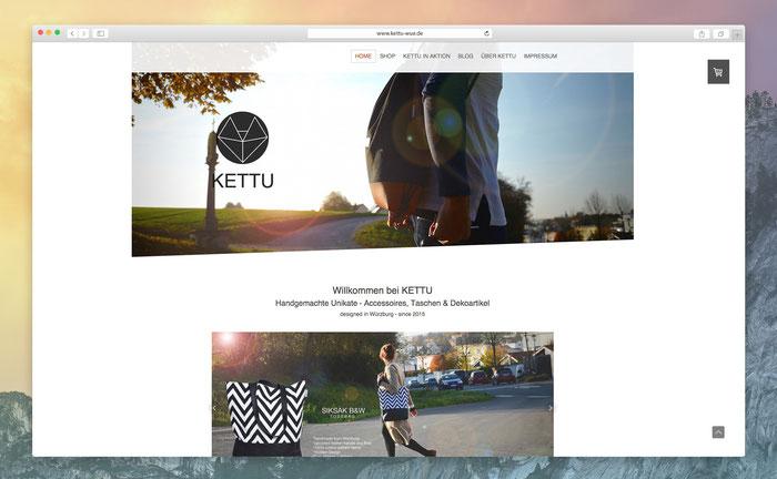"""KETTU nutzt das Jimdo Design """"Cairo"""", dessen schräg angeschnittenes Hintergrundbild in Kombination mit einem Bildwechsel ein echter Hingucker ist."""