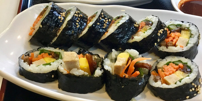 Vegan korean gimbap