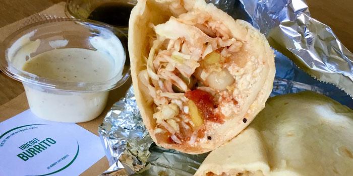 Salsa vegan burrito hideout burrito