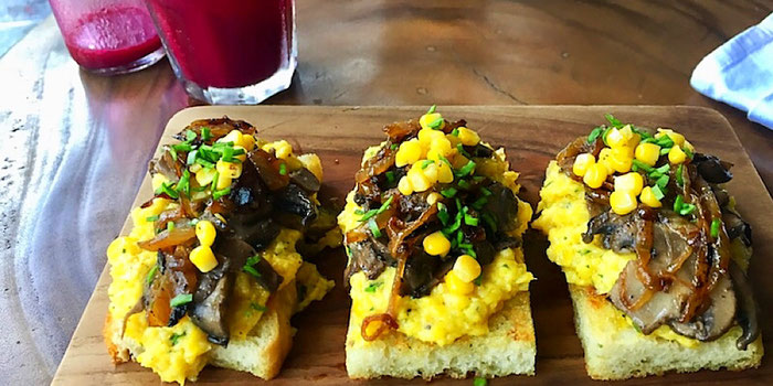 polenta toast at dumbo in ubud bali