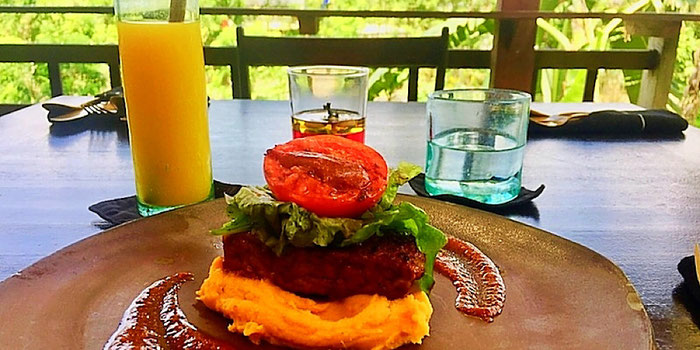 bbq ribs at moksa plant-based cuisine in ubud bali
