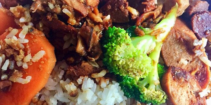 pork rib rice from vegetarian villas west jurong singapore