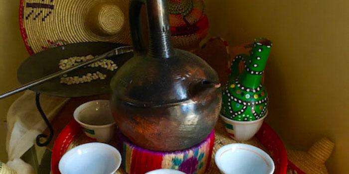 ethiopian coffee tray