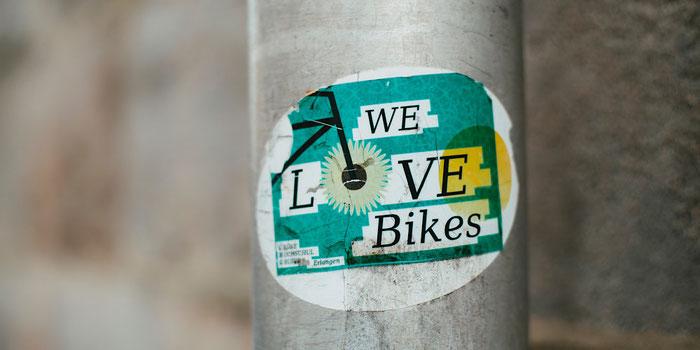 We love bikes sticker
