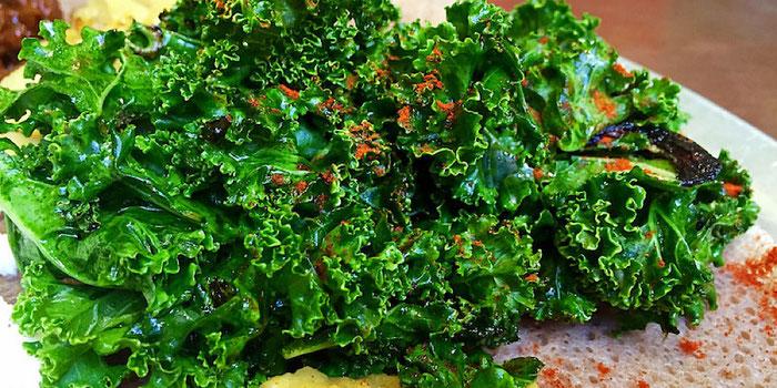 gomen wat Ethiopian kale salad
