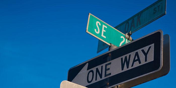 Portland street sign