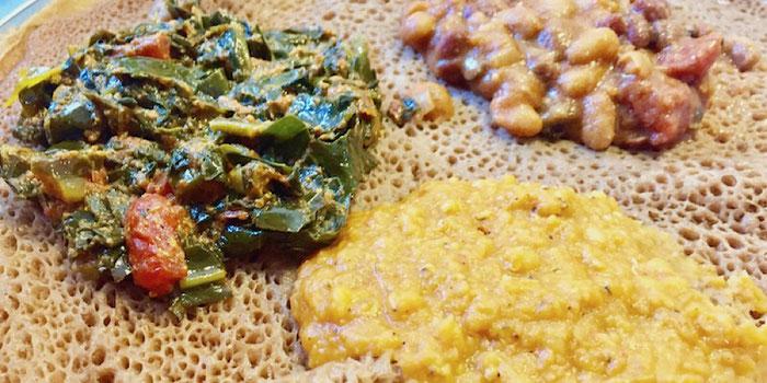 ethiopian injera meal