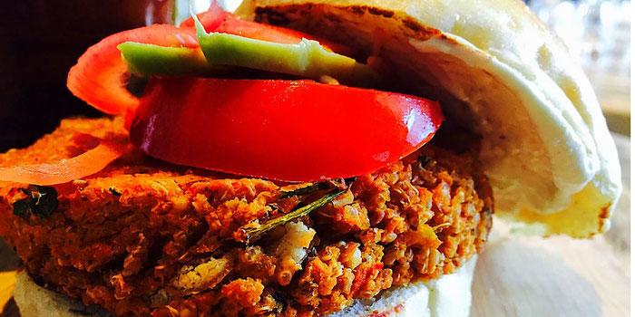 quinoa crusted vegan burger the happy pear ireland