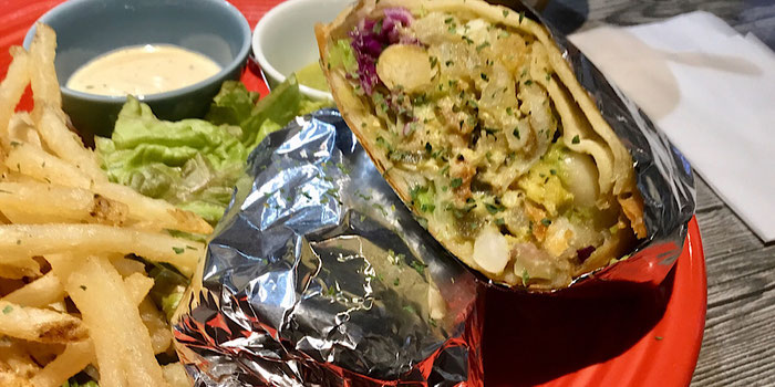 California style burrito hideout burrito