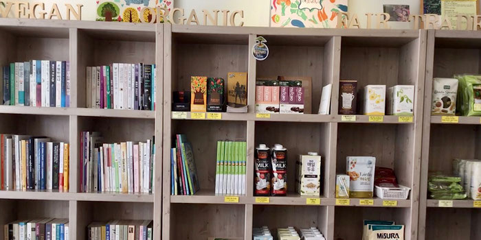 Vegan books and products