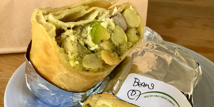 Beans & avocado burrito hideout burrito